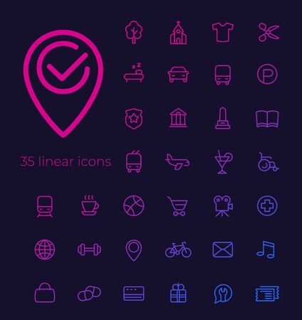 line vector icons for apps and web