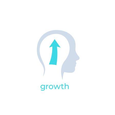 personal growth icon Фото со стока - 130034722