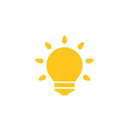Shining light bulb icon, vector Illusztráció