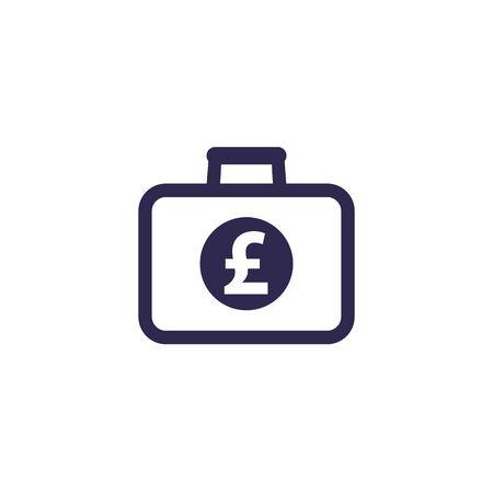 portfolio icon with pound, vector