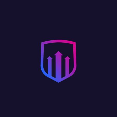security increase icon with arrows