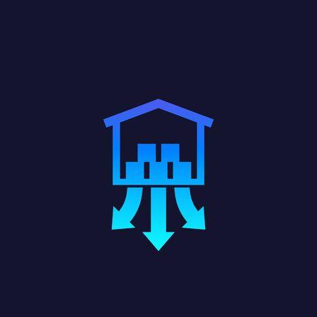 distribution center icon, vector