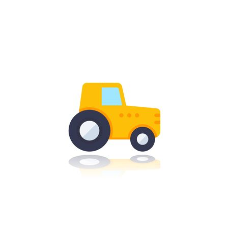 Tractor, agrimotor vector icon on white Ilustrace