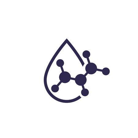 Icona goccia di acido, vettore
