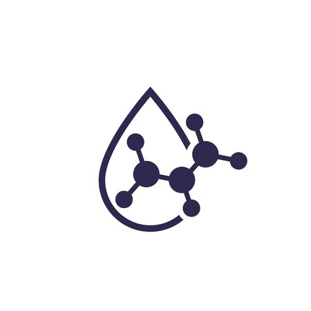 Icono de gota de ácido, vector