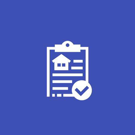 house insurance contract vector icon