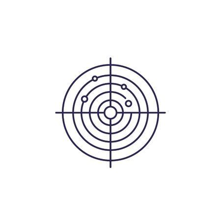 radar vector line icon