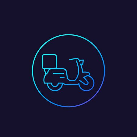 food delivery linear icon Иллюстрация