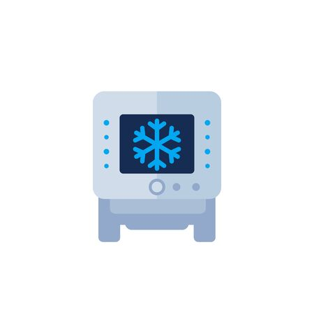 industrial fridge, freezer icon 向量圖像