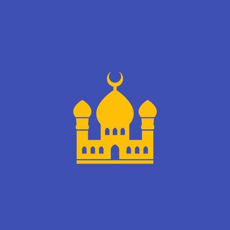 mosque, muslim building icon, vector