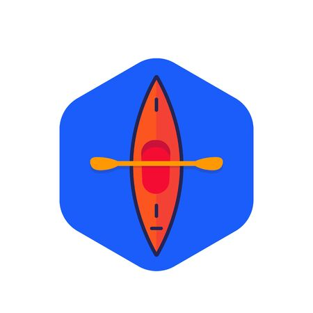 kayak, canoe icon, flat vector