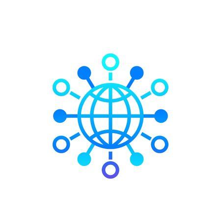 International business, global markets icon