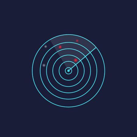 radar vector design  イラスト・ベクター素材
