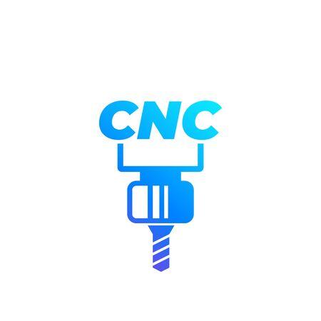 CNC werktuigmachine vector pictogram Vector Illustratie