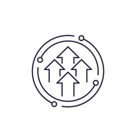 growth cycle line icon