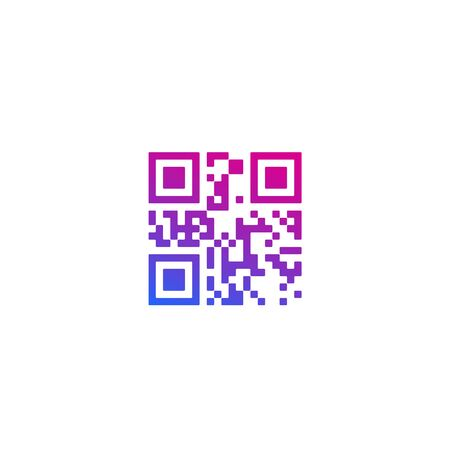 QR code on white
