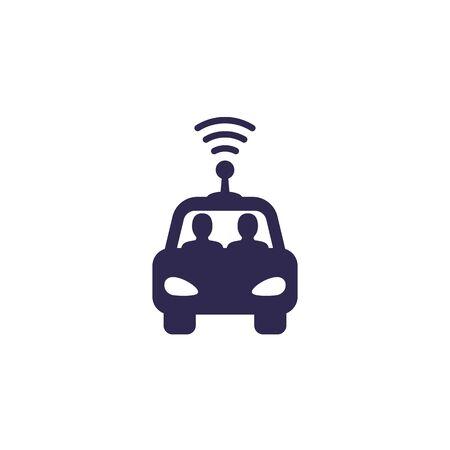 autonomous self drive car icon