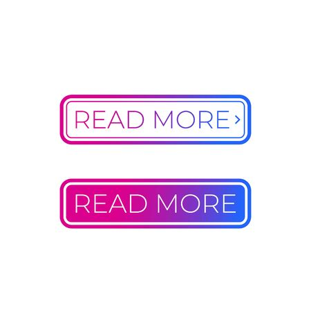 buttons for websites, Read More, vector