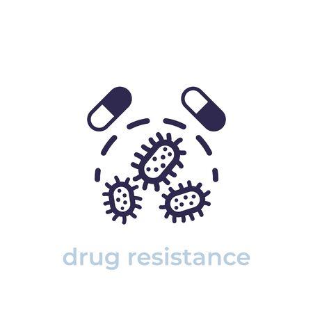 drug resistance icon, vector Vector Illustration