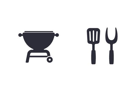 barbecue vector icons Illustration