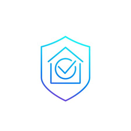 house insurance line icon