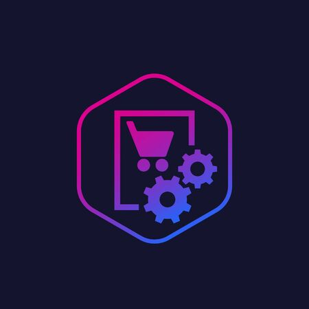 order, purchase processing vector icon