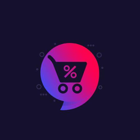 Discount, special offer vector label for web Ilustração