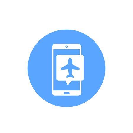 flight mode vector icon