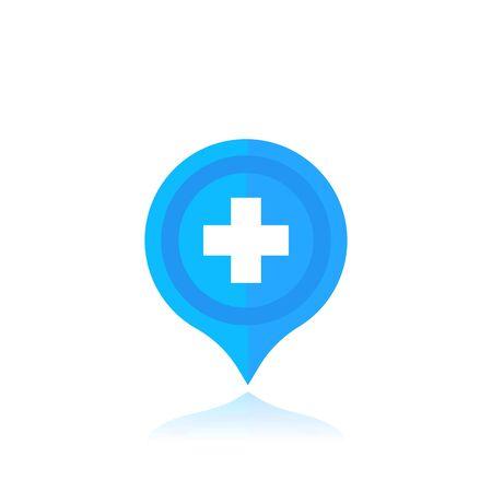 Hospital location marker