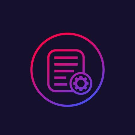 data process icon, vector