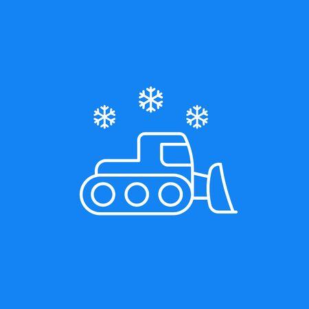 snowplow vector icon, linear Ilustracja