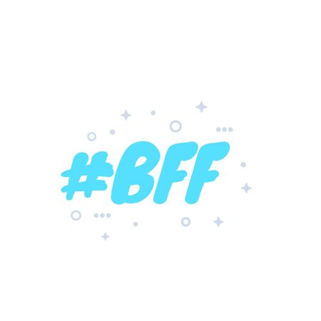 BFF, best friends forever, vector Zdjęcie Seryjne - 132022423