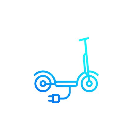 kick scooter, electric, line icon