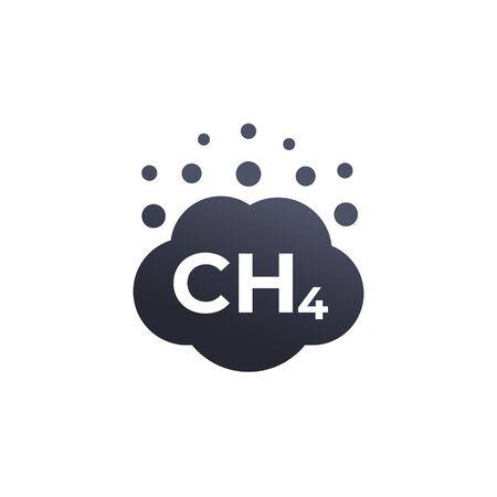 methane emissions vector icon Banco de Imagens - 132027671
