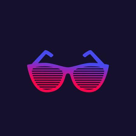 shutter sunglasses vector