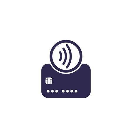 Contactless payments with card, tap to pay icon