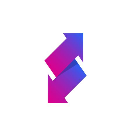 exchange vector icon with arrows