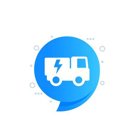 electric truck vector