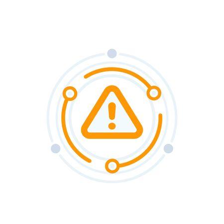 Warning alert vector icon