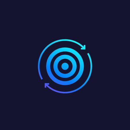 retargeting vector icon