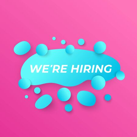 We are hiring vector ad