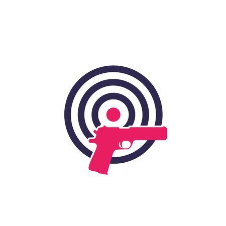 target and pistol, vector logo Logo