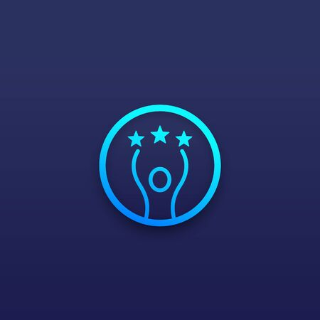 competence and skills icon Ilustrace