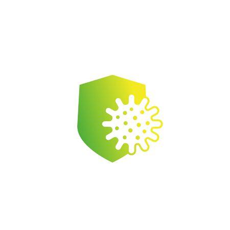 icône de bouclier de protection antibactérienne Vecteurs