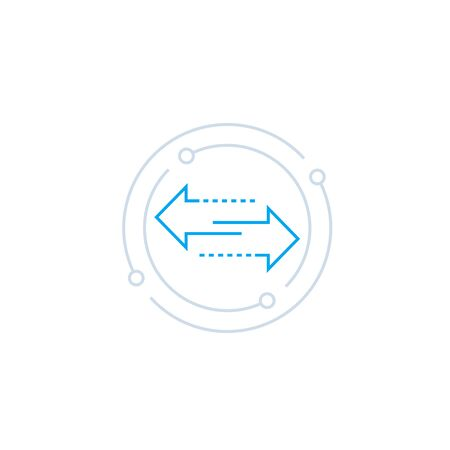 icône de vecteur d'échange avec des flèches de ligne