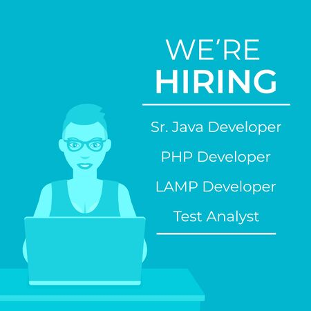 We are hiring software developers, vector ad Stock fotó - 133557906