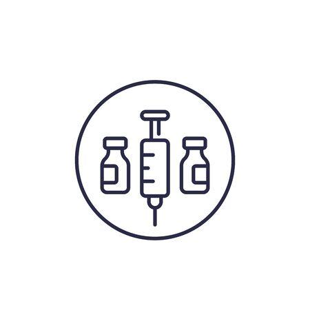 vaccination vector line icon Ilustração