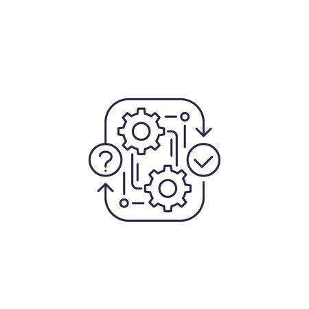 workflow, procedure icon, line vector Illustration