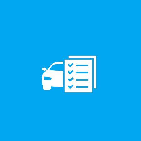 car maintenance list vector icon Vectores