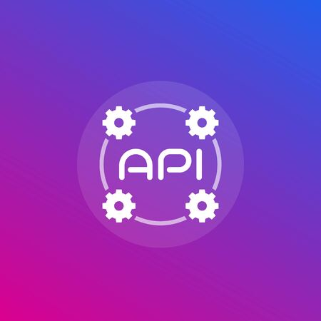 API icon, application programming interface and software integration